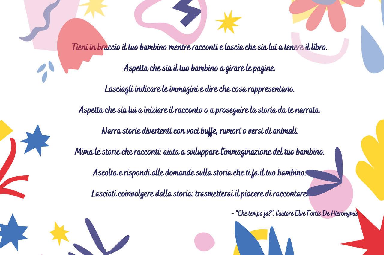Che tempo fa Elve Fortis De Hieronymis Come leggere ad un bambino
