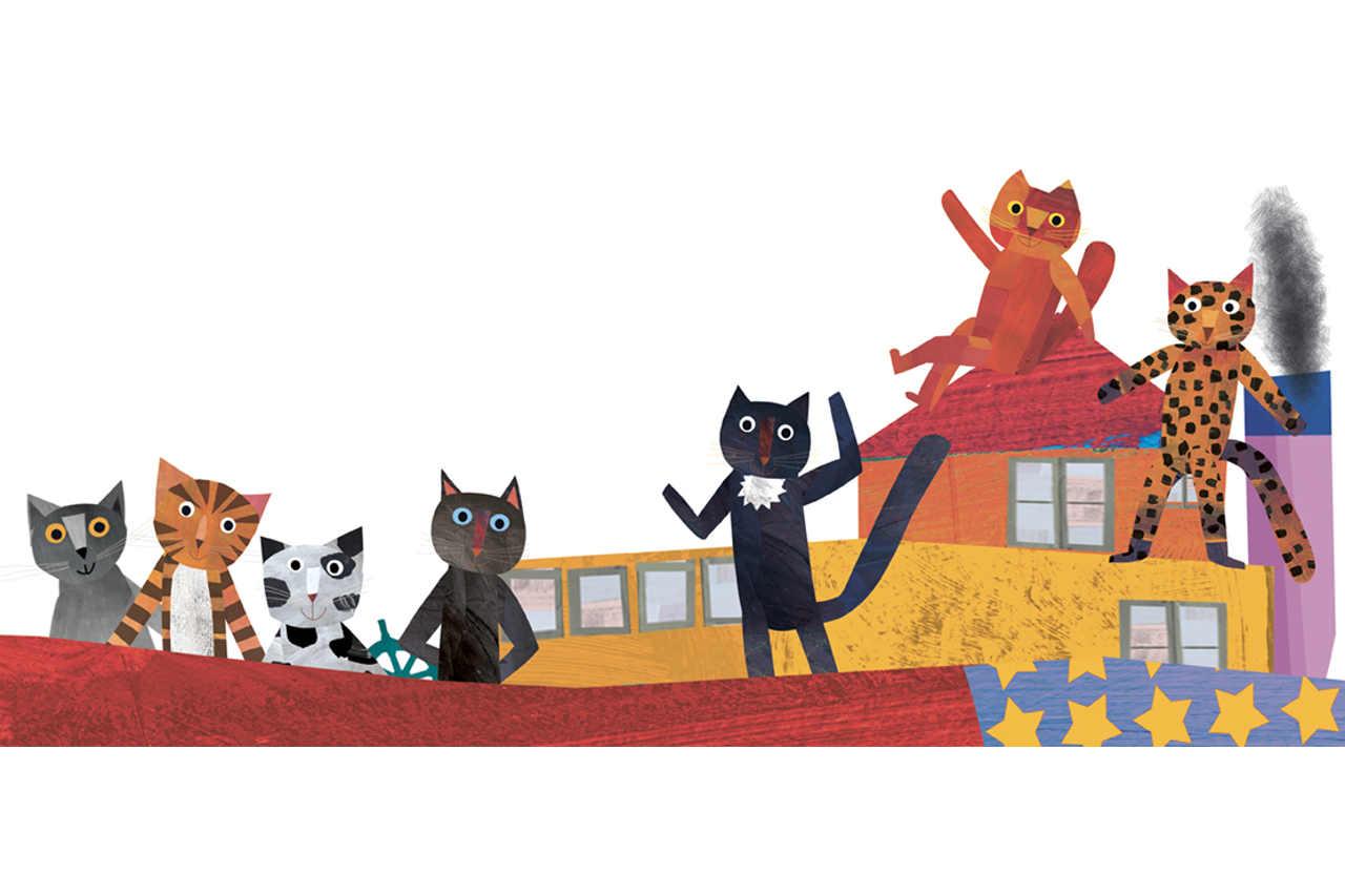 fantastimici sette gattini e bambini